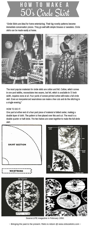 How To Make 50's Circle Skirt