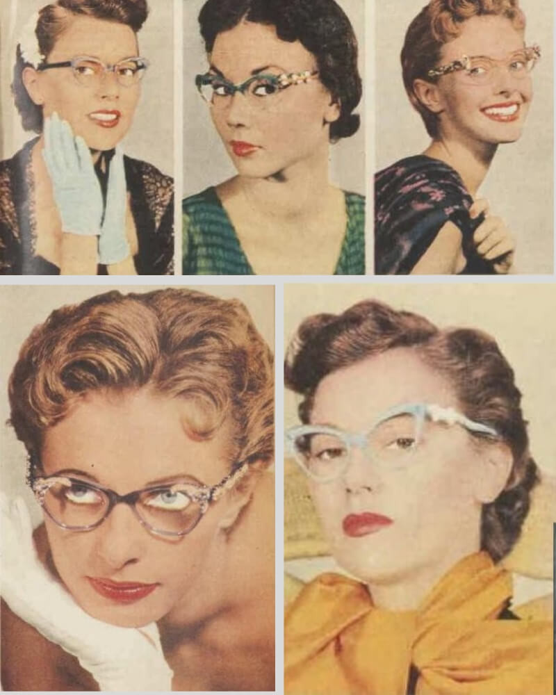50s style cats eye glasses