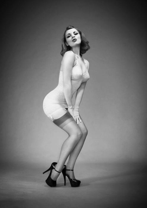 Vintage corselette, retro vintage lingerie