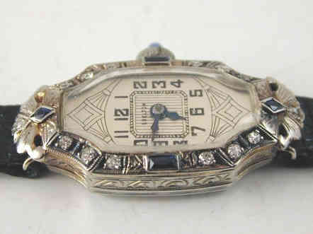 Art Deco Platinum Watch