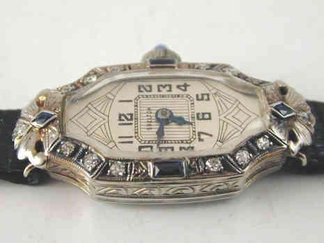 Art Deco Platinum Watch
