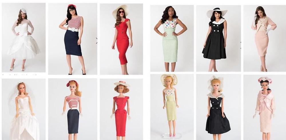 retro barbie womens clothes