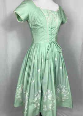 True Vintage 50s Mint Green Dress