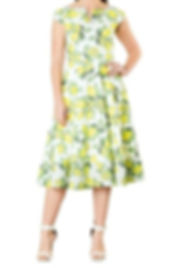 50s Style Lemon Print Dress