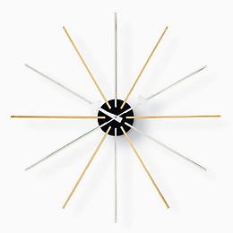 Nelson Mid Century clock,Atomic retro clock,Nelson Clock silver gold