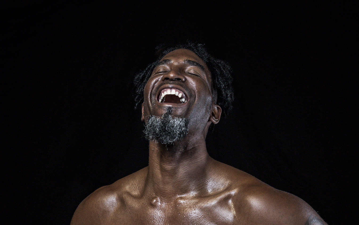 Strong black man fitness picture