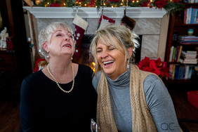 Mom Daughter Laughing Portrait