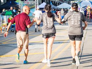 Joe Moreno Kim and Meikeila Kincaid Marathon Finish