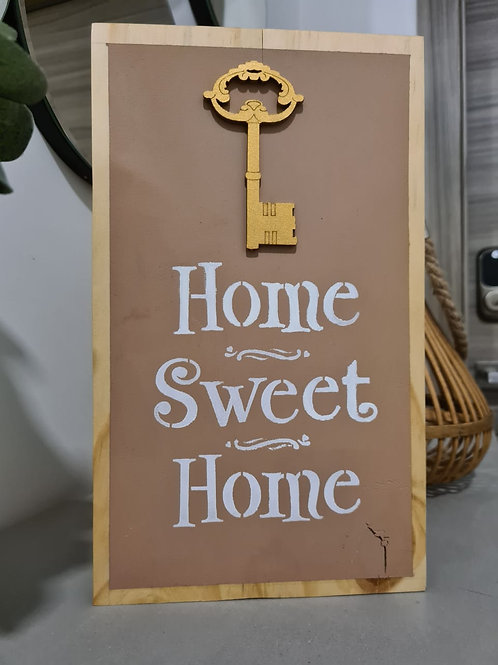 "Letrero 12 x 7""Home Sweet Home"