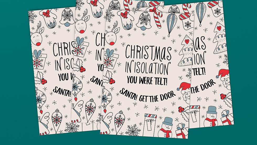 Santa Get The Door - Scottish Christmas Card