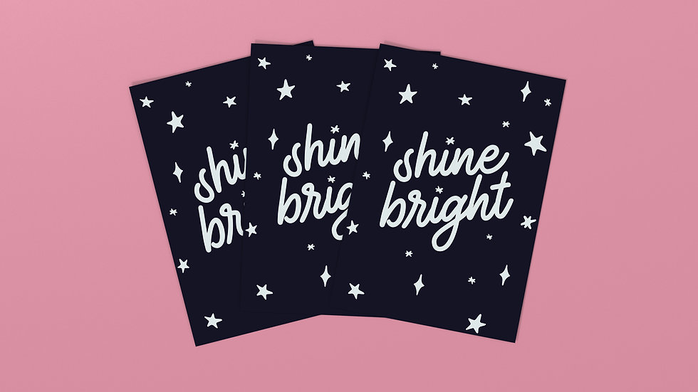 Shine Bright - Postcard / Mini Art Print