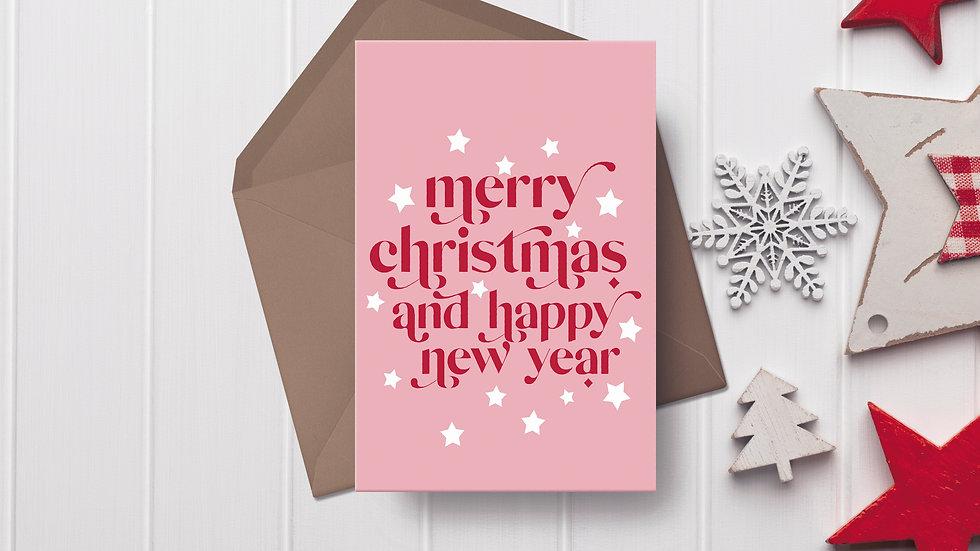 Merry Christmas & Happy New Year Modern Christmas Card