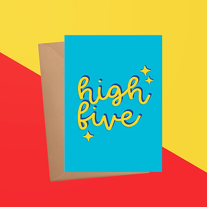 High Five Congratulations Card