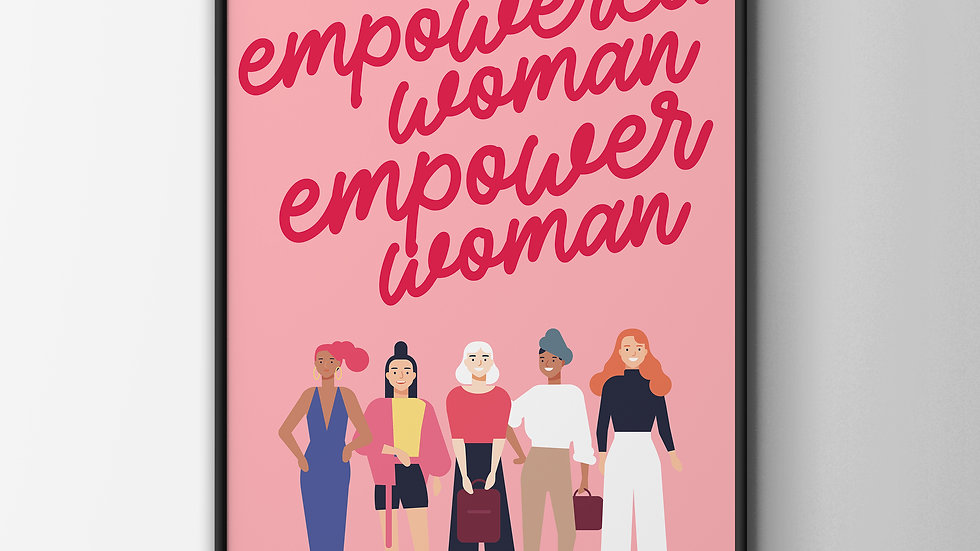 Illustrated Empowered Woman A4 Art Print