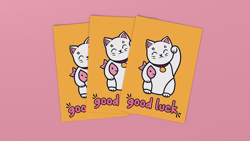 Good Luck - Postcard / Mini Art Print