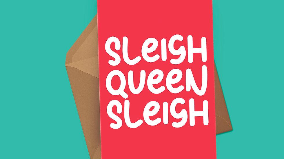 Sleigh Queen Sleigh Christmas Card