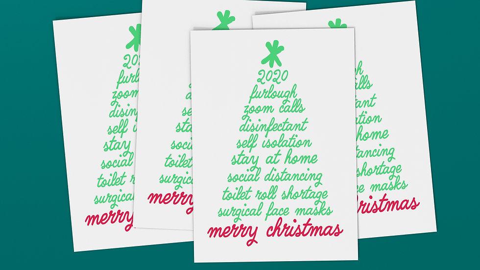 Coronavirus Bingo Buzzwords Christmas Card
