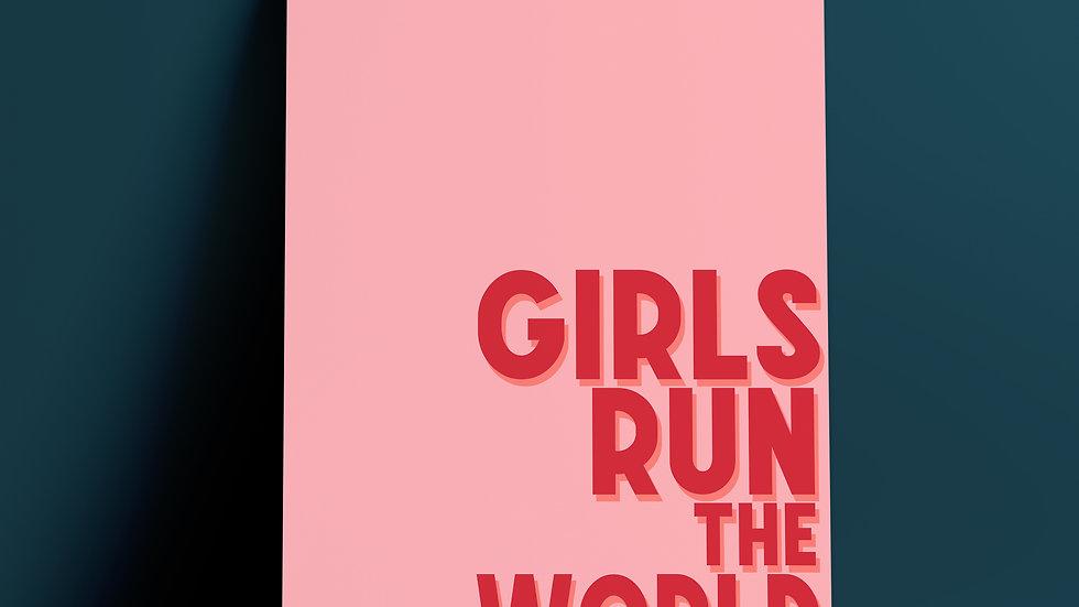 Girls Run The World A4 Art Print