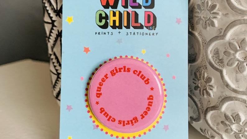 Queer Girls Club Button