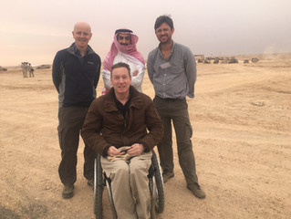 """Back from Saudi Arabia and filming """"Northern Thunder""""  - piece running today (Monday 14th"""
