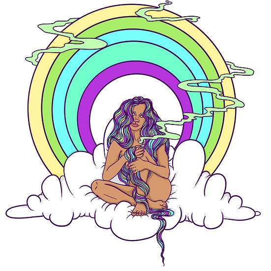 Rainbow Cloud Babe