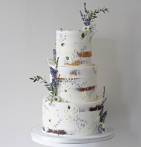 Semi Naked Cake With Dried Lavender