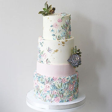 Just delivered this wedding cake for sam