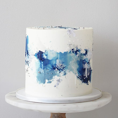 Abstract buttercream painting