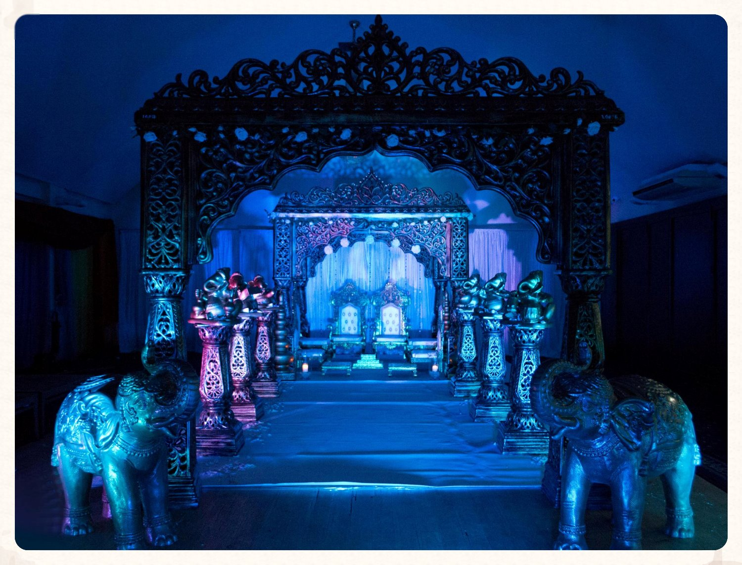 the jodha mandap (lighting)