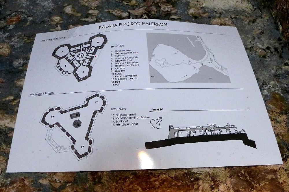 План крепости Али-паши в Порто-Палермо