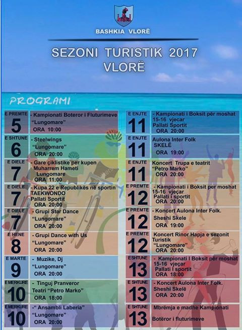 Программа мероприятий 5-13 мая во Влёре (Албания)