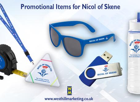 Promotional items for Nicol Of Skene