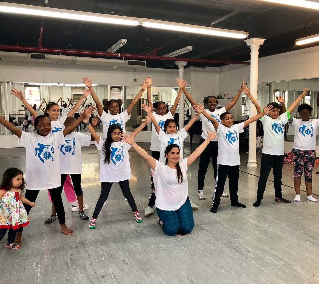 At Kids class NYC DanceWeek