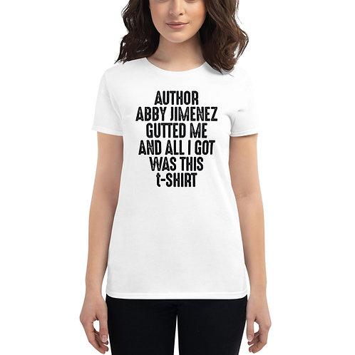 AUTHOR MERCH Women's Short Sleeve T-Shirt (Gutted Me)