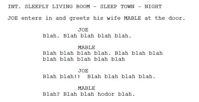 Boring Dialogue