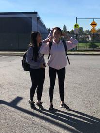 Elaine Nguyen and Natalie Su (Grade 9)