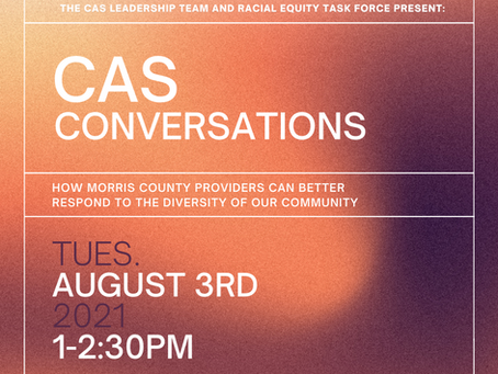 Morris County Continuum of Care to Host CAS Conversations on August 3