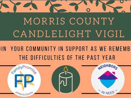 Neighbors in Need & Family Promise of Morris County to Host Morris County's Candlelight Vigil