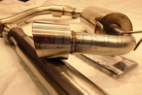 PERRIN SS 3 INCH RESONATED CATBACK EXHAUST - 2013+ FR-S / BRZ