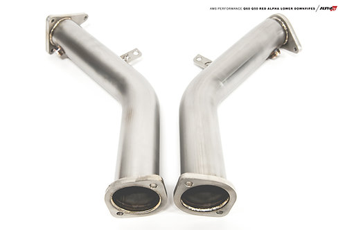 Alpha Performance INFINITI Q60 / Q50 VR30DDTT Red Alpha Lower Downpipes