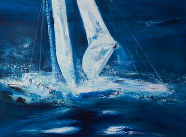 Jacht in Blauw