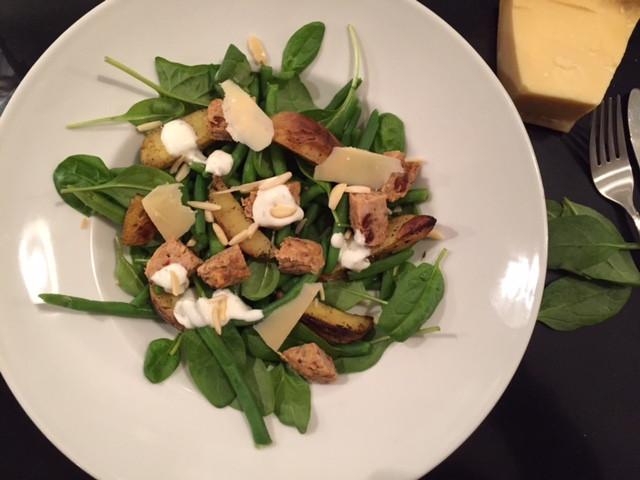 Lækker Cæsar Salat - Brug juleresterne