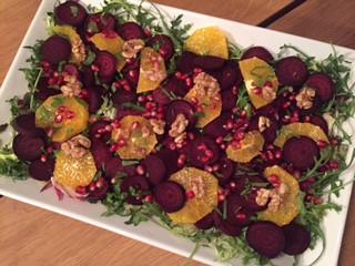 Bagte rødbeder m. appelsin og valnødder
