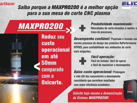 MAXPRO200 e POWERMAX para mesa de corte CNC plasma