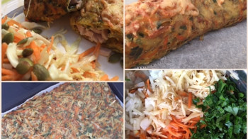 Bagt kartoffel-gulerods roulade