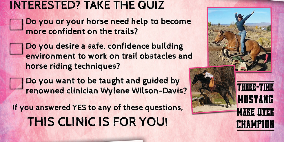 Grass Valley, CA Confidence on the Trail Clinic, June 1st-3rd, 2018