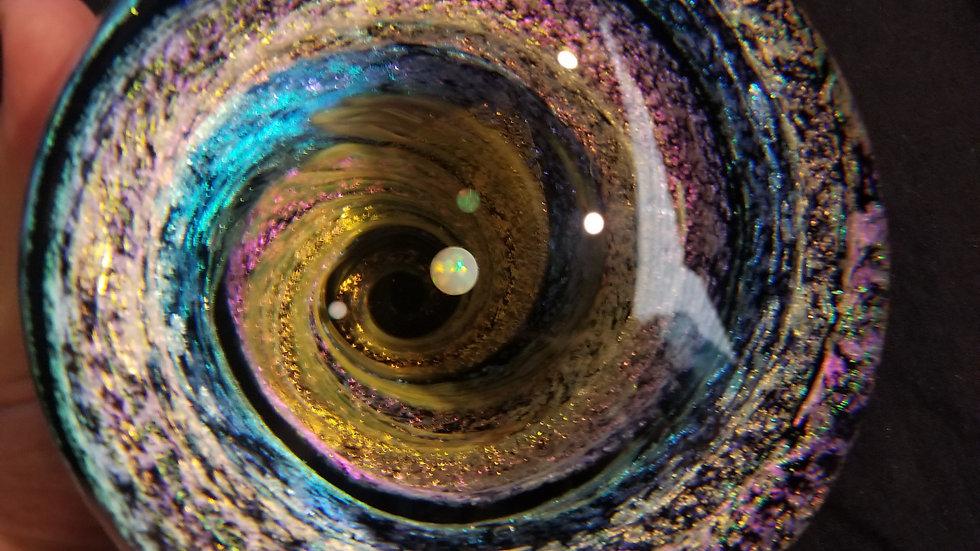 """#024 5.5"""" Dichroic Vortex w/3 Opals"""