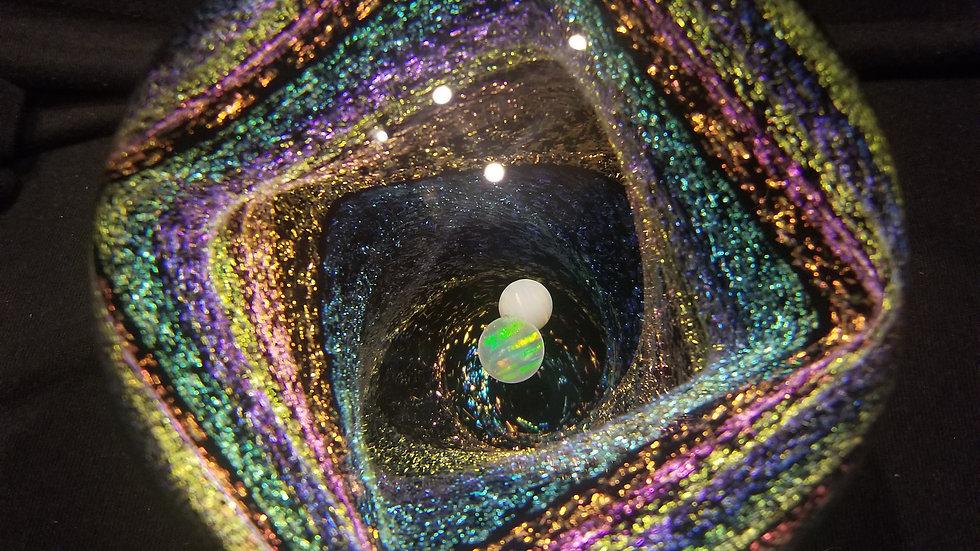 """#042 4.0"""" Double Opal Starship Squarecase"""
