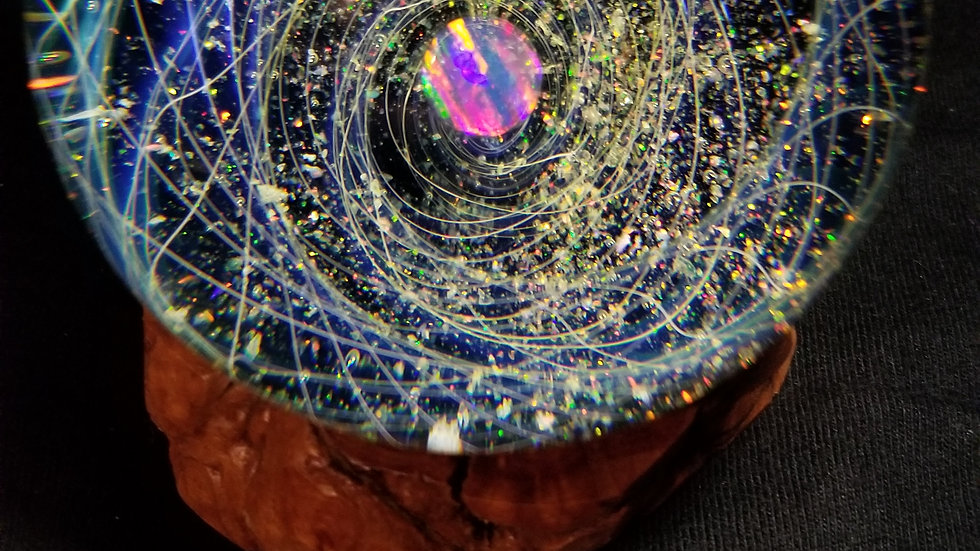 """#0060 2.8"""" Fume and Crushed Opal Cosmosphere"""