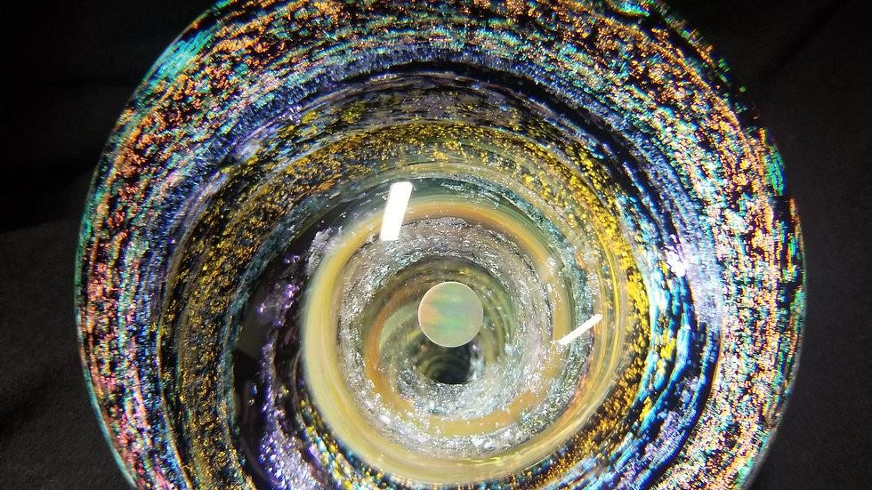 """#0049  3.6""""  Double Vortex w/Rainbow Opal"""